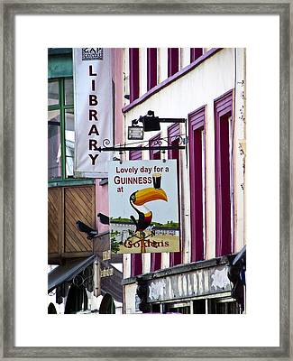 Lovely Day For A Guinness Macroom Ireland Framed Print