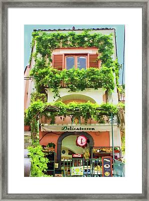 Lovely Deli In Sorrento Framed Print