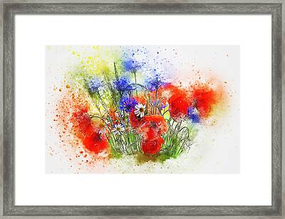 Watercolour Bouquet Framed Print