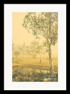 Frightening Landscape Framed Prints