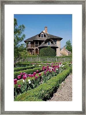 Lovely Garden And Cottage Framed Print