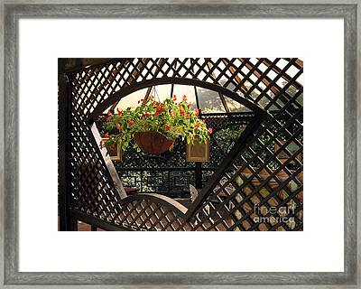 Lovely Garden Terrace Framed Print