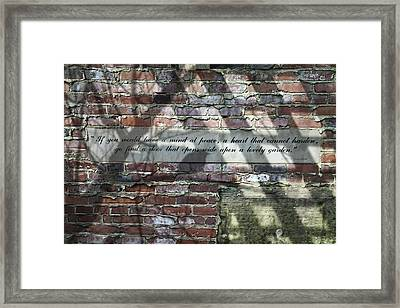 Lovely Garden Wall Framed Print by Tom Mc Nemar