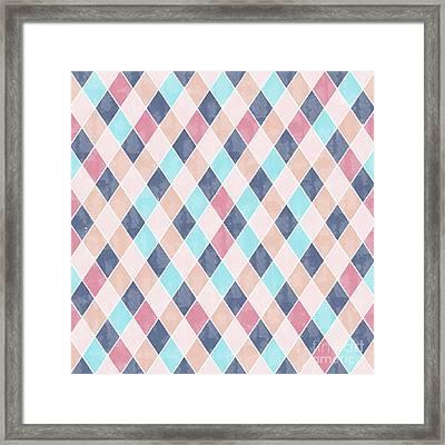 Lovely Geometric Pattern Vi Framed Print