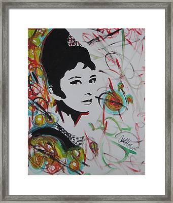 Lovely Hepburn Framed Print