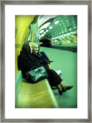 Lovely Ladies At Paris Metro Framed Print by Daniel Gomez