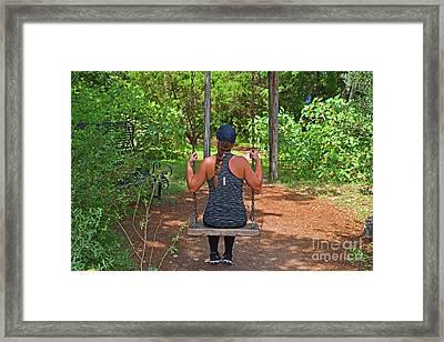 Lovely Lady - Secret Swing Retweet Framed Print by Ray Shrewsberry