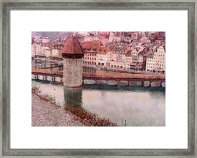 Lovely Lake Lucerne Framed Print