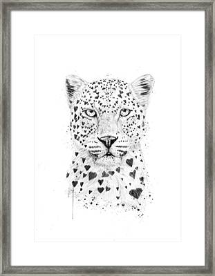Lovely Leopard Framed Print by Balazs Solti