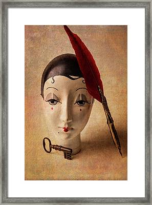 Lovely Old Antique Doll Framed Print by Garry Gay