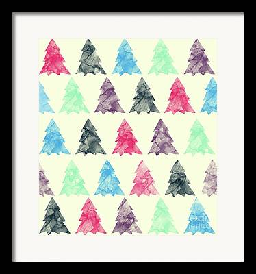 Abstract.trees Drawings Framed Prints