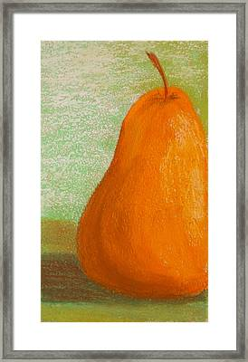 Lovely Pear Framed Print by Cheryl Albert