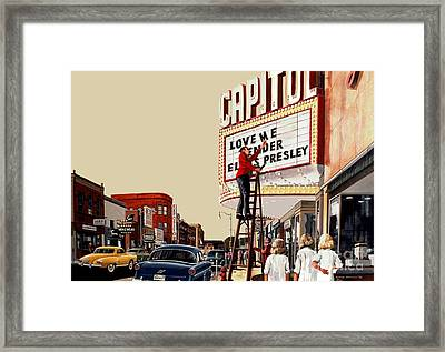 Framed Print featuring the painting Love Me Tender by Michael Swanson