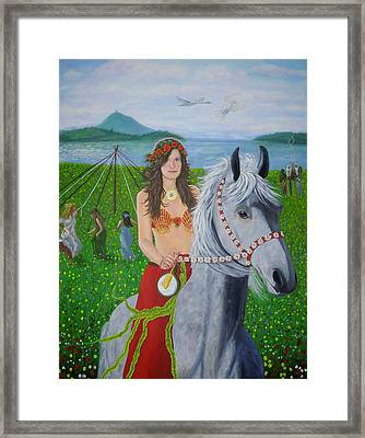 Lover / Virgin Goddess Rhiannon - Beltane Framed Print
