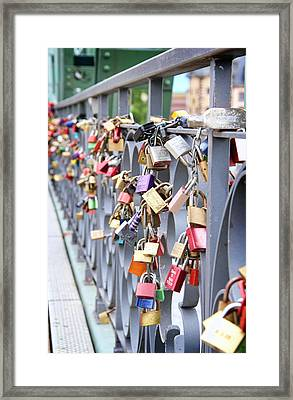 Lovers Bridge Framed Print