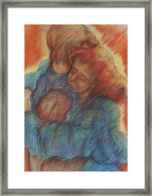 Lovers Embrace Framed Print