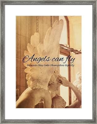 Lovers Embrace Quote Framed Print by JAMART Photography