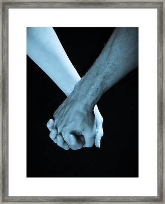 Lovers Hands Framed Print