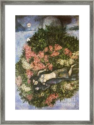 Lovers In The Lilacs Framed Print