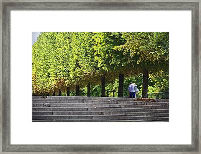 Lovers In The Tuileries Framed Print