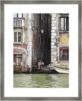 Lovers In Venice Framed Print
