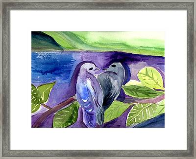Lovers Framed Print by Janet Doggett