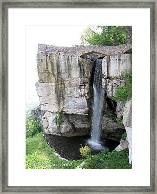 Lovers Leap Framed Print