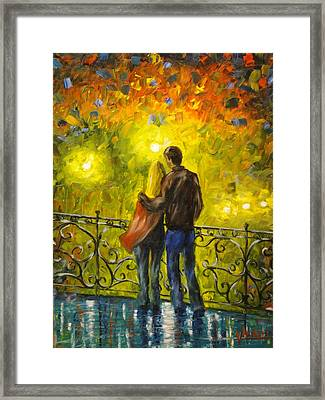 Lovers Leap Framed Print by Charles Vaughn