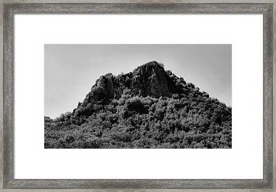Lovers Leap Peak On Pacheco Pass Framed Print