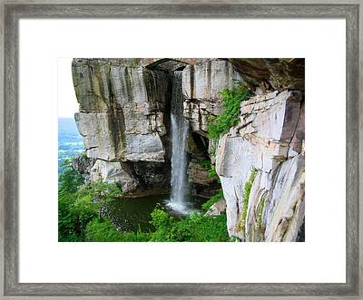 Lover's Leap Waterfall Framed Print by April Patterson