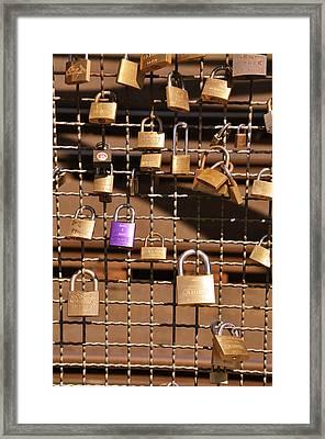 Lovers Locks 2 Framed Print by Noah Cole