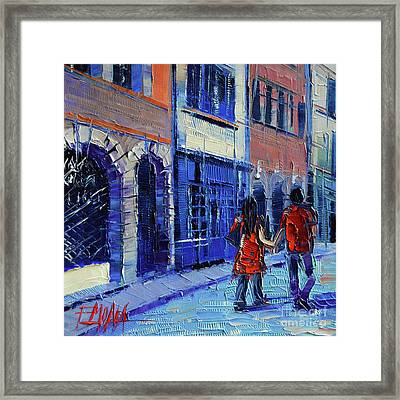Lovers Framed Print by Mona Edulesco