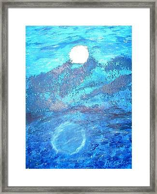 Lover's Moon Framed Print by BJ Abrams