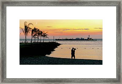 Lovers On The Bay Framed Print