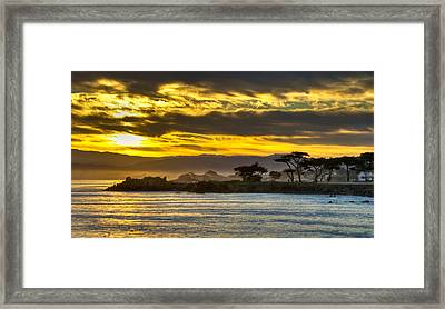 Lover's Point Sunrise Framed Print by Connie Cooper-Edwards