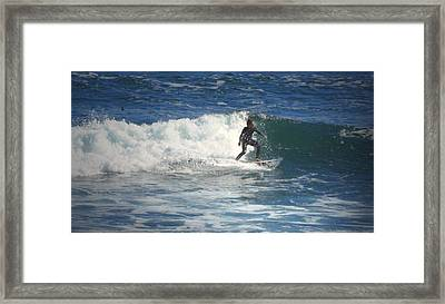 Lovers Point Surfers 006 Framed Print by Joyce Dickens