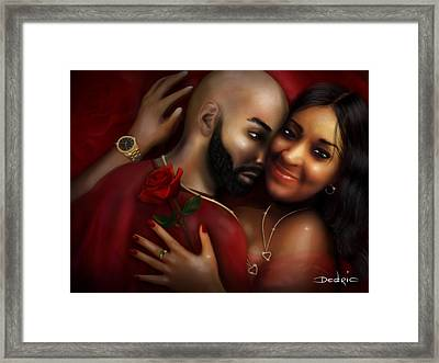 Lovers Portrait Framed Print