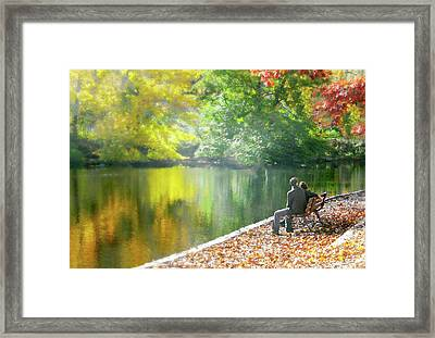 Love Leaf Framed Print by Diana Angstadt