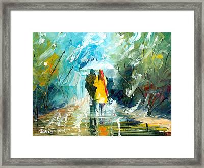 Lover's Stroll Framed Print by Jessilyn Park