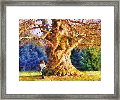 Lovers Tree Framed Print