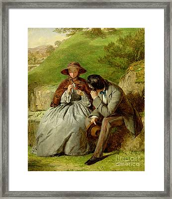 Lovers Framed Print by William Powell Frith