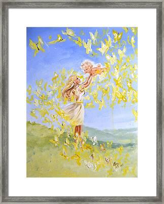 Love's Flight Framed Print