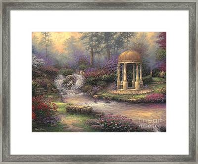 Love's Infinity Garden Framed Print by Chuck Pinson