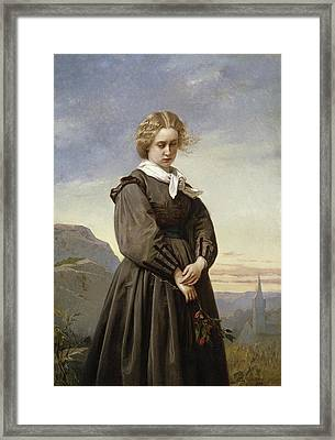 Love's Melancholy Framed Print by Constant Mayer