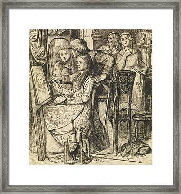 Love's Mirror Or A Parable Of Love Framed Print
