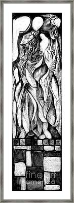 Framed Print featuring the drawing Loves Pedestal by James Lanigan Thompson MFA