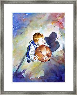 Loves The Game Framed Print