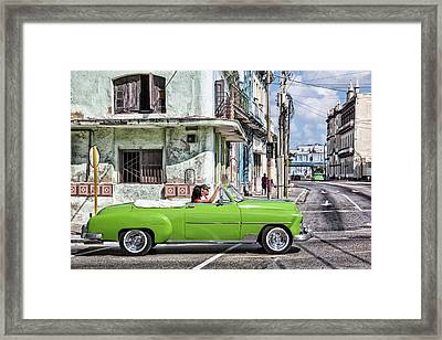 Lovin' Lime Green Chevy Framed Print