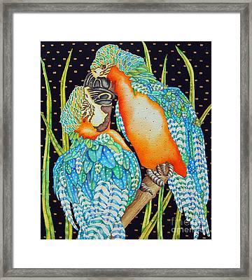 Loving Birds Framed Print by Gail Zavala