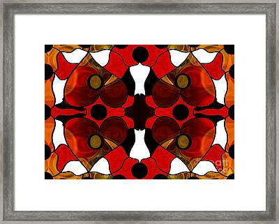 Loving Connections Abstract Bliss Art By Omashte Framed Print by Omaste Witkowski